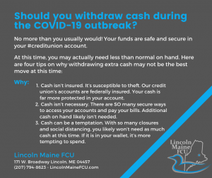 COVID-19 withdrawing cash